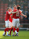 Andy Butler of Walsall (2nd r) celebrates after scoring their first goal. - Walsall v Stevenage - npower League 1 - Banks's Stadium, Walsall - 24th March, 2012  .© Kevin Coleman 2012