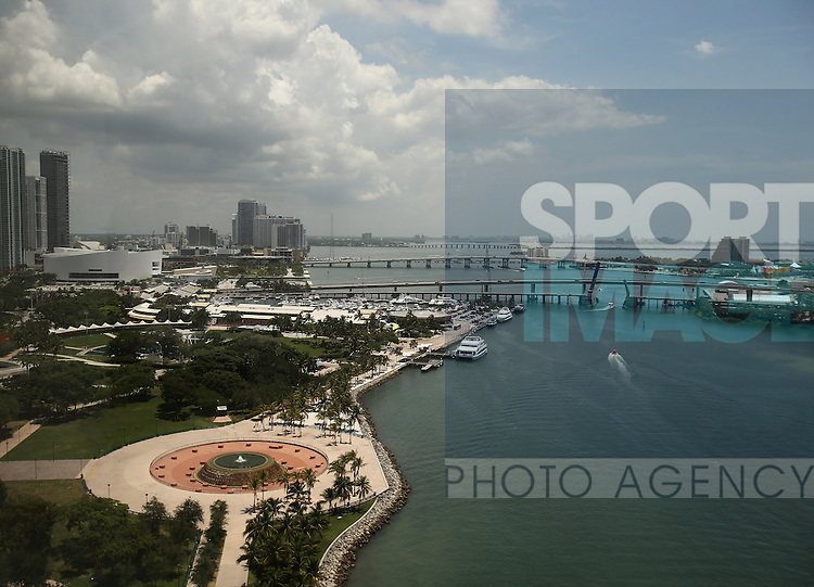 A general view of the propsed site for David Beckham's Miami stadium in Port Miami<br /> <br /> England vs Honduras  - International Friendly - Sun Life Stadium - Miami - USA - 07/06/2014  - Pic David Klein/Sportimage
