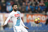 Napoli&rsquo;s Raul Albiol in action during the Serie A soccer match between Roma and Napoli at the Olympic stadium, 4 March 2017.<br /> UPDATE IMAGES PRESS/Isabella Bonotto