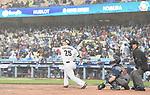 Yoshitomo Tsutsugo (JPN),<br /> MARCH 21, 2017 - WBC :<br /> Yoshitomo Tsutsugoh of Japan bats during the 2017 World Baseball Classic Semifinal game between United States 2-1 Japan at Dodger Stadium in Los Angeles, California, United States. (Photo by AFLO)