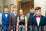 L-R Conor nolan, Conor Hennessy, Aoife O'Connor, Darragh McElligott and Gene O'Sullivan  dressed perfect for the Kilmoyley GAA annual social held in the Ballyroe Heights hotel, Tralee.