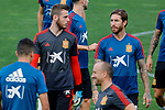David de Gea and Sergio Ramos during the Trainee Session at Ciudad del Futbol in Las Rozas, Spain. September 02, 2019. (ALTERPHOTOS/A. Perez Meca)