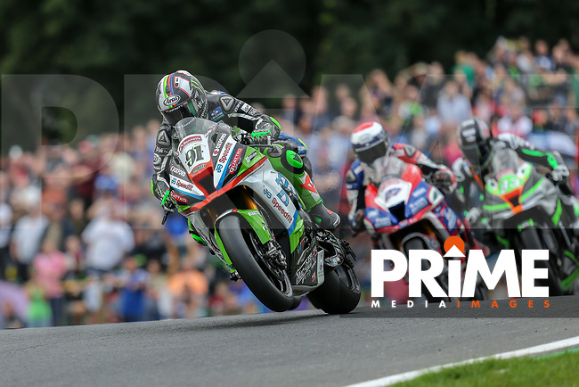 Leon HASLAM (91) of the BSB JG Speedfit Kawasaki race team  on his way to winning during Race One at the Bennetts British Superbike Championship Round BSB Round 8 (Sunday) at Cadwell Park Circuit, Louth, England on 19 August 2018. Photo by David Horn.