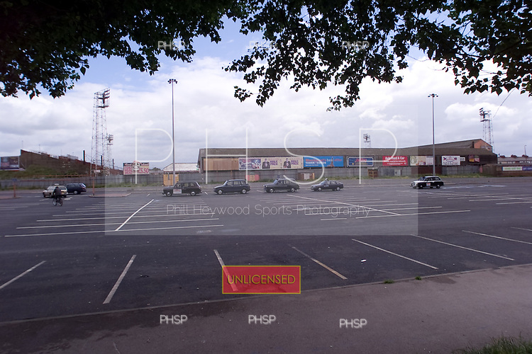 23/06/2000 Blackpool FC Bloomfield Road Ground..West side of the ground from Lonsdale rd car park.....© Phill Heywood.