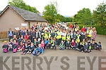 "Pupils, teachers and parents of Cullina National School, Beaufort, pictured as they took part in a ""Park 'n' Stride"" as part of WOW, Walk on Wednesday."