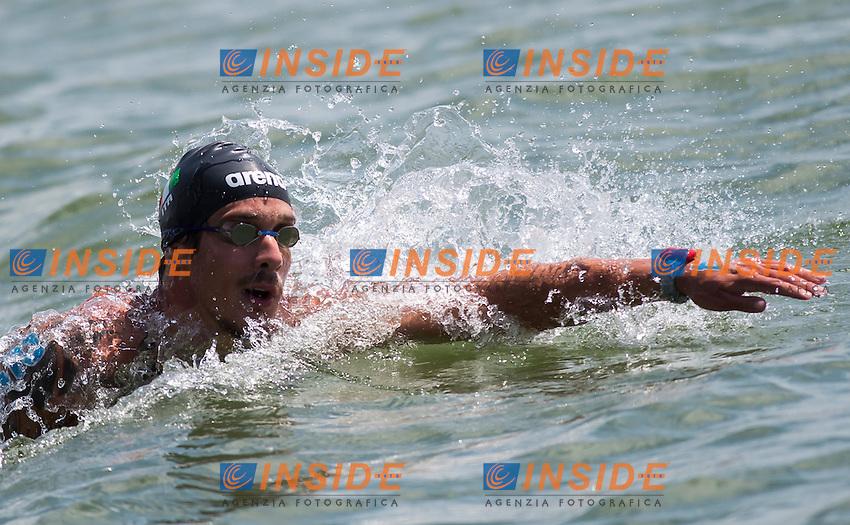 VANELLI Federico ITA silver medal<br /> Hoorn, Netherlands <br /> LEN 2016 European Open Water Swimming Championships <br /> Open Water Swimming<br /> Men's 5km<br /> Day 02 12-07-2016<br /> Photo Giorgio Perottino/Deepbluemedia/Insidefoto