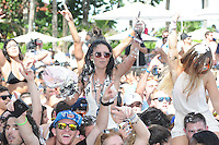 MIAMI BEACH , FL - AUGUST 13: Fans Pictured as Steve Aoki performs during the iHeart Radio Y-100 Mackapoolooza Pool Party at The Fountainbleu on August 13, 2016 in Miami Beach, Florida. Credit: mpi04/MediaPunch