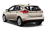 Car pictures of rear three quarter view of 2018 Ford Focus SE 5 Door Hatchback Angular Rear