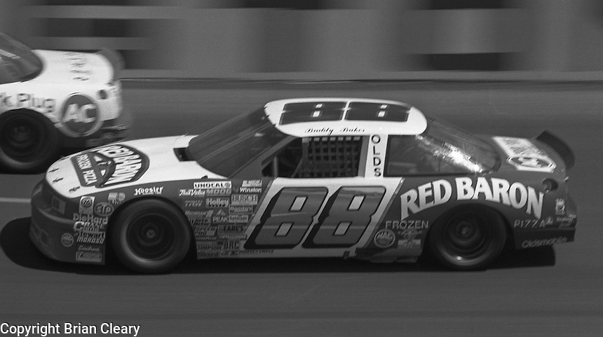 Buddy Baker competes in the Transouth 500 at Darlington Raceway in Darlington, SC on March 20, 1988. (Photo by Brian Cleary/www.bcpix.com)