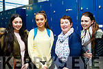 Here we go<br /> ---------------<br /> L-R Tralee students Clodagh Harrington&amp;Kimberley Harris, with Jean Darcy, Currow, and Shanon O'Shea, killarney all enjoying the Induction day concert at the KCFE, Kerry Collage of Further Education, Clash, Tralee last Monday.
