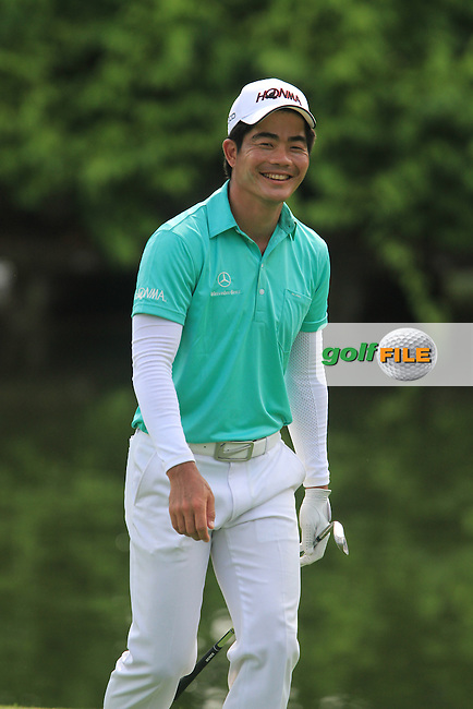 Liang Wen-chong (CHN) after chipping into the hole on the 2nd during the Pro-Am of the Maybank Malaysian Open 2012 at Kuala Lumpur Golf and Country Club, Kuala Lumpur, Malaysia....(Photo Jenny Matthews/www.golffile.ie)