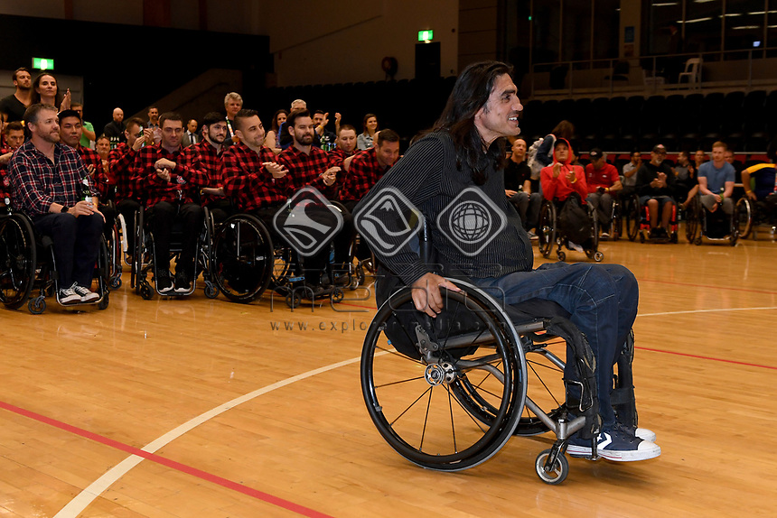 Nazim Erdem is the first Australian inductee in the IWRF Hall of Fame<br /> Australian Wheelchair Rugby Team<br /> 2018 IWRF WheelChair Rugby <br /> World Championship / Finals<br /> Sydney  NSW Australia<br /> Friday 10th August 2018<br /> © Sport the library / Jeff Crow / APC