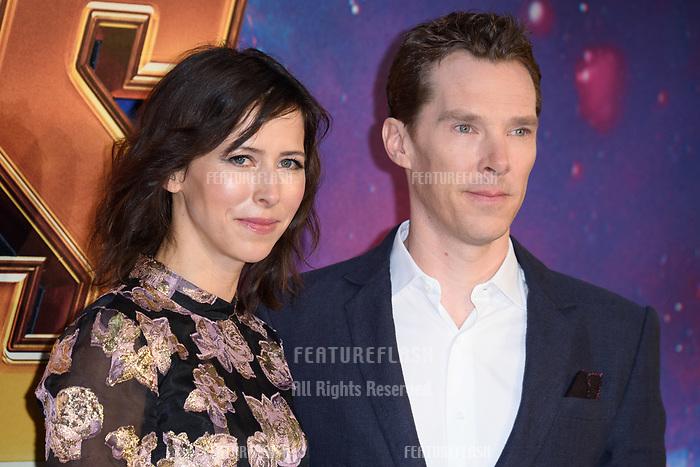 Benedict Cumberbatch &amp; Sophie Hunter arriving for the &quot;Avengers: Infinity War&quot; fan event at the London Television Studios, London, UK. <br /> 08 April  2018<br /> Picture: Steve Vas/Featureflash/SilverHub 0208 004 5359 sales@silverhubmedia.com