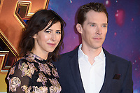 Benedict Cumberbatch &amp; Sophie Hunter arriving for the &quot;Avengers: Infinity War&quot; fan event at the London Television Studios, London, UK. <br /> 08 April  2018<br /> Picture: Steve Vas/Featureflash/SilverHub 0208 004 5359 sales@silverhubmedia.com