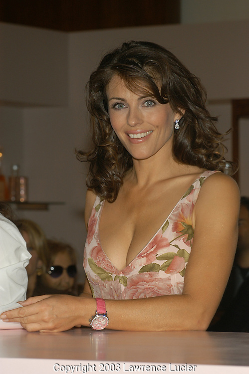 Elizabeth Hurley wearing a Dolce&Gabbana dress.