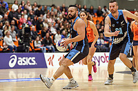 NZ Men's Cameron Powell in action during the Cadbury Netball Series match between NZ Men and All Stars at the Bruce Pullman Arena in Papakura, New Zealand on Friday, 28 June 2019. Photo: Dave Lintott / lintottphoto.co.nz