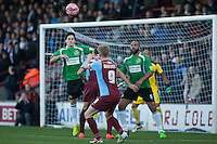 goal mouth tussle at Worcester end<br />  - Scunthorpe United vs Worcester City - FA Challenge Cup 2nd Round Football at Glanford Park, Scunthorpe - 07/12/14 - MANDATORY CREDIT: Mark Hodsman/TGSPHOTO - Self billing applies where appropriate - contact@tgsphoto.co.uk - NO UNPAID USE