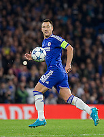 John Terry of Chelsea in action during the UEFA Champions League Group G match between Chelsea and Dynamo Kyiv at Stamford Bridge, London, England on 4 November 2015. Photo by Andy Rowland.