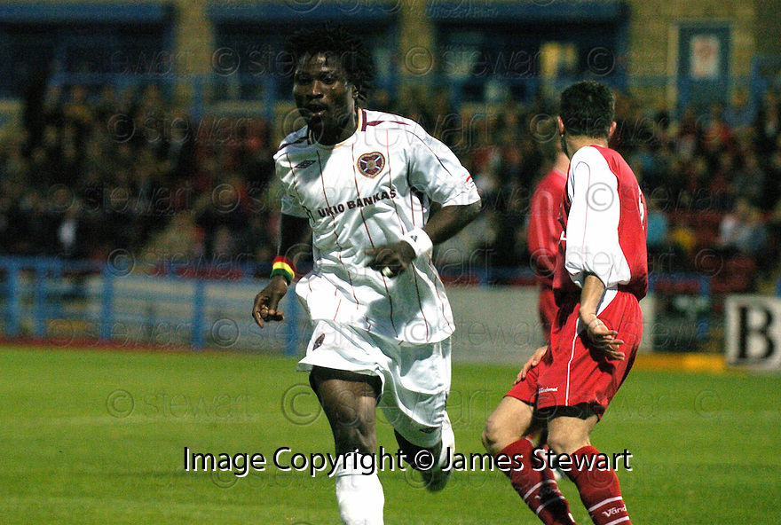28/08/2007       Copyright Pic: James Stewart.File Name : sct_jspa09_stirling_v_hearts.LARYEA KINGSTON CELEBRATES AFTER HE SCORES HEARTS SECOND.James Stewart Photo Agency 19 Carronlea Drive, Falkirk. FK2 8DN      Vat Reg No. 607 6932 25.Office     : +44 (0)1324 570906     .Mobile   : +44 (0)7721 416997.Fax         : +44 (0)1324 570906.E-mail  :  jim@jspa.co.uk.If you require further information then contact Jim Stewart on any of the numbers above........
