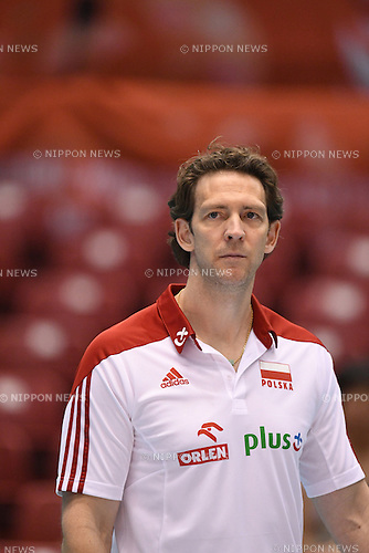 Stephane Antiga (POL),<br /> JUNE 2, 2016 - Volleyball :<br /> Men's Volleyball World Final Qualification for the Rio de Janeiro Olympics 2016<br /> match between Poland 3-0 Venezuela<br /> at Tokyo Metropolitan Gymnasium, Tokyo, Japan.<br /> (Photo by AFLO SPORT)
