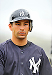 5 March 2011: New York Yankees' infielder Kevin Russo awaits his turn in the batting cage prior to a Spring Training game against the Washington Nationals at George M. Steinbrenner Field in Tampa, Florida. The Nationals defeated the Yankees 10-8 in Grapefruit League action. Mandatory Credit: Ed Wolfstein Photo