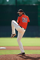 San Francisco Giants pitcher Stetson Woods (60) during an instructional league game against the Colorado Rockies on October 7, 2015 at the Giants Baseball Complex in Scottsdale, Arizona.  (Mike Janes/Four Seam Images)
