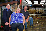 Tony Knightly, Killorglin, Anna McCarthy, Killorglin, James McDonald, Ventry enjoying the Camp Sheep Fair on Thursday