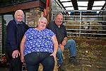 Tony Knightly, Killorglin, Anna McCarthy, Killorglin, James McDonald, Ventry enjoying the Camp Sheep Fair on Thursday