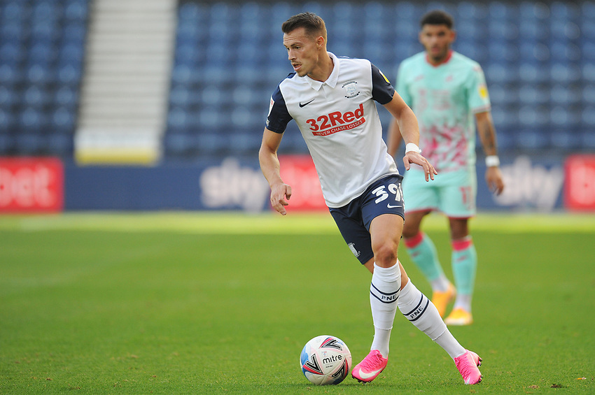 Preston North End's Billy Bodin<br /> <br /> Photographer Kevin Barnes/CameraSport<br /> <br /> The EFL Sky Bet Championship - Preston North End v Swansea City - Saturday September 12th 2020 - Deepdale - Preston<br /> <br /> World Copyright © 2020 CameraSport. All rights reserved. 43 Linden Ave. Countesthorpe. Leicester. England. LE8 5PG - Tel: +44 (0) 116 277 4147 - admin@camerasport.com - www.camerasport.com