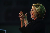 BLACKWOOD, NJ - MAY 11 : U.S. Democratic presidential candidate Hillary Clinton greets speaks to supporters while she attends a rally on May 11, 2016 in Blackwood, New Jersey. Hillary Clinton will clinch the party's nomination after votes come in June 7. Photo by VIEWpress