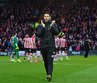 Lincoln City manager Danny Cowley applauds the fans before kick off<br /> <br /> Photographer Chris Vaughan/CameraSport<br /> <br /> The Emirates FA Cup Second Round - Lincoln City v Carlisle United - Saturday 1st December 2018 - Sincil Bank - Lincoln<br />  <br /> World Copyright © 2018 CameraSport. All rights reserved. 43 Linden Ave. Countesthorpe. Leicester. England. LE8 5PG - Tel: +44 (0) 116 277 4147 - admin@camerasport.com - www.camerasport.com