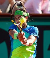 Rafael Nadal (ESP) (2) against Jurgen Melzer (AUS) (22) in the semi-finals of the men's singles. Rafael Nadal beat Jurgen Melzer 6-2 6-3 7-6..Tennis - French Open - Day 13 - Fri 04 Jun 2010 - Roland Garros - Paris - France..© FREY - AMN Images, 1st Floor, Barry House, 20-22 Worple Road, London. SW19 4DH - Tel: +44 (0) 208 947 0117 - contact@advantagemedianet.com - www.photoshelter.com/c/amnimages