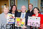 Kerry Mayor John Brassil launching the Kerry Library Toys and Sensory Resources collection  for children with special needs in Castleisland Library on Wednesday l-r: Tina Sugrue HSE Children Disability manager, Maria Leyden Manager of Kids Tralee, Elaine Murphy Assessment Officer and Mary O'Dwyer HSE