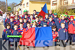 Castleisland Rugby Club under age players who marched in the St Patricks Day parade in Castleisland on Tuesday