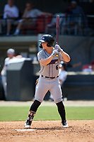 Winston-Salem Dash Steele Walker (6) at bat during a Carolina League game against the Carolina Mudcats on August 14, 2019 at Five County Stadium in Zebulon, North Carolina.  Winston-Salem defeated Carolina 4-2.  (Mike Janes/Four Seam Images)