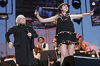 "Nolwenn Leroy and Louise Forestier perform at the ""Paris-Quebec"" show of the 44th Festival d'ete de Quebec on the Plains of Abraham in Quebec city Thursday July 7, 2011."