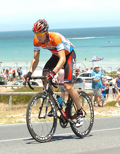 21.01.2012. McLaren Vale, Australia.  Tour Down Under, stage 5 McLaren Vale - Willunga Hill, Bmc Racing 2012, Kohler Martin, Aldinga Beach