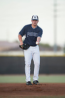 AZL Padres 2 starting pitcher Ryan Weathers (40) warms up before an Arizona League game against the AZL Padres 1 at Peoria Sports Complex on July 25, 2018 in Peoria, Arizona. The AZL Padres 1 defeated the AZL Padres 2 10-1. (Zachary Lucy/Four Seam Images)