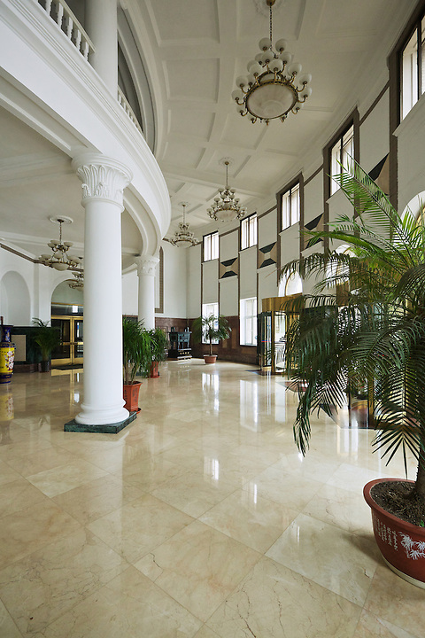 Interior Of The SMR Wharf/Port Administrative Headquarters.  Built Between 1916 And 1926 In Dalian (Dalny/Dairen).