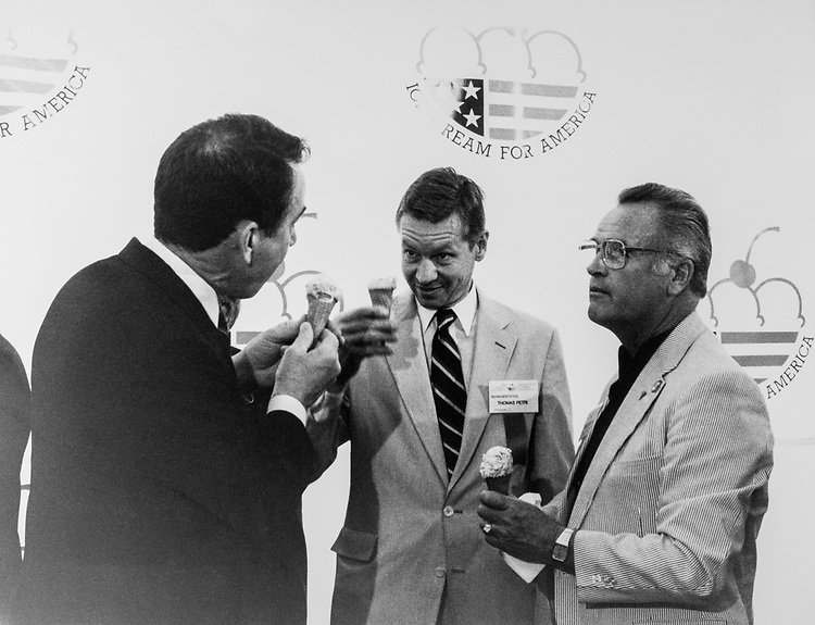 Rep. Tom Petri, R-Wis., at the Ice-cream Social, in June 1989. (Photo by CQ Roll Call via Getty Images)