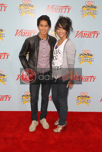 """BooBoo Stewart and sister Fivel Stewart<br /> at Variety's 3rd Annual """"Power of Youth,"""" Paramount Studios, Hollywood, CA. 12-05-09<br /> David Edwards/DailyCeleb.com 818-249-4998"""