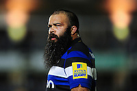 Kane Palma-Newport of Bath Rugby looks on during a break in play. Aviva Premiership match, between Bath Rugby and Sale Sharks on October 7, 2016 at the Recreation Ground in Bath, England. Photo by: Patrick Khachfe / Onside Images