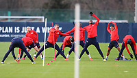 9th March 2020, Red Bull Arena, Leipzig, Germany; RB Leipzig press confefence and training ahead of their Champions League match versus Tottenham Hotspur on 10th March 2020; Lukas Klostermann 16, Nordi Mukiele 22, Ibrahima Konat  6, and Tyler Adams 14, RB Leipzig