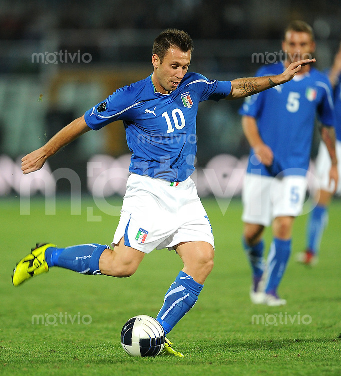 FUSSBALL INTERNATIONAL  Qualifikation Euro 2012  11.10.2011 Italien - Nordirland Antonio Cassano (Italien)