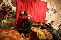ROMANIA / Maramures / Breb / 14.10.2006 ..Ancuta, 17, with her boyfriend, Liviu, 18 and friends. ..© Davin Ellicson / Anzenberger