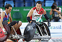 Yukinobu Ike (JPN),<br /> SEPTEMBER 15, 2016 - WheelChair Rugby : <br /> Preliminary Round Group B<br /> match Japan 57-52 France<br /> at Carioca Arena 1 during the Rio 2016 Paralympic Games in Rio de Janeiro, Brazil.<br /> (Photo by Shingo Ito/AFLO)