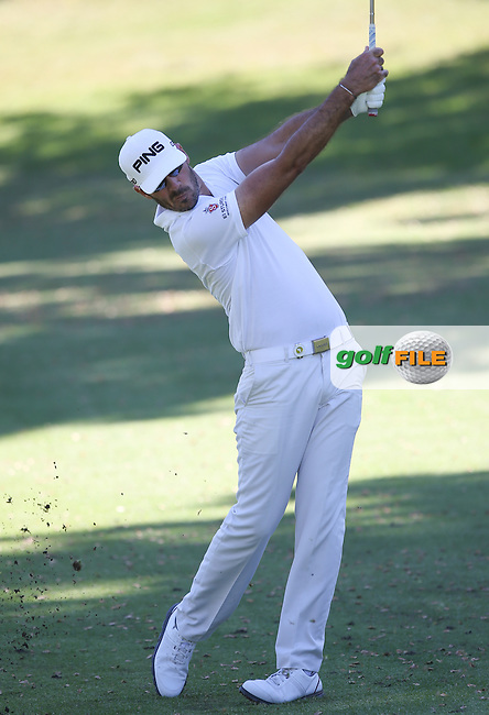 Gregory Havret (FRA) plays to the 14th in the shadows during Round Three of the Africa Open 2015 at the East London Golf Club, East London, Eastern Cape, South Africa. Picture:  David Lloyd / www.golffile.ie. 07/03/2015