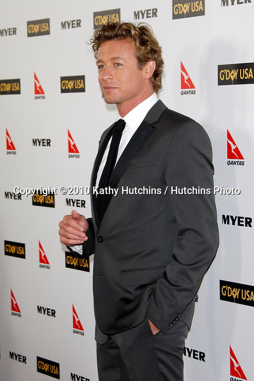 Simon Baker.arriving at the G'Day USA 2010 Los Angeles Black Tie Gala.Hollywood & Highland.Los Angeles, CA.January 16, 2010.©2010 Kathy Hutchins / Hutchins Photo....