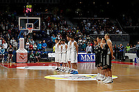 Real Madrid's team and Brose's team during Euroliga match. February 28,2013.(ALTERPHOTOS/Alconada)