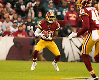Washington Redskins wide receiver Jamison Crowder (80) fields a punt in the first quarter against the Philadelphia Eagles at FedEx Field in Landover, Maryland on December 30, 2018.  The Eagles won the game 24 - 0. Photo Credit: Ron Sachs/CNP/AdMedia